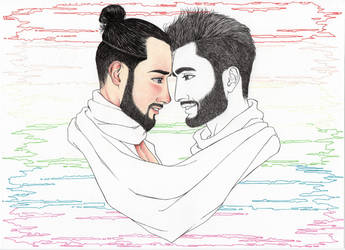 Love Is Love - disegno in esecuzione 4^ by LittleLiuk