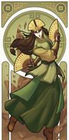 Avatar Kyoshi - Art Nouveau Avatars by swadeart