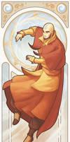 Avatar Aang - Art Nouveau Avatars by swadeart