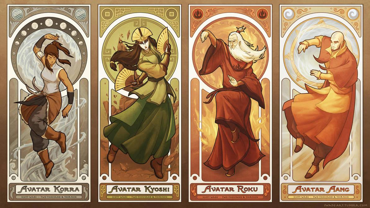 Art Nouveau Avatars - The Four Seasons by swadeart