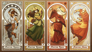 Art Nouveau Avatars - The Four Seasons by swadeart