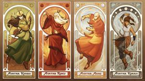 Art Nouveau Avatars - The Four Seasons (Reorder) by swadeart