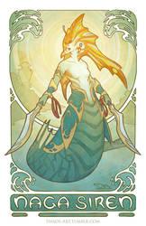 Siren's Song - Dota 2 Naga Siren Print by swadeart