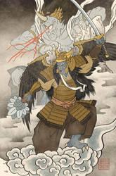 Ukiyo-e Goldar - MMPR Comic Variant Cover by swadeart