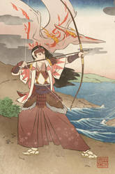 Ukiyo-e Pink Ranger - MMPR Comic Variant Cover by swadeart