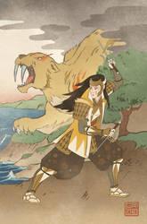 Ukiyo-e Yellow Ranger - MMPR Comic Variant Cover by swadeart