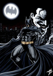 Batman and the Joker by Hal-2012
