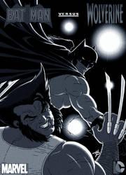 Batman Battles Wolverine by Hal-2012