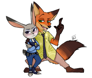 Sly Nick And Judy by TheDarkShadow1990
