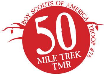Boy Scouts 50 Mile Hike Logo by littlearashi