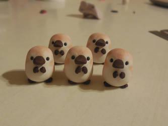 Clay Platypuses by TrufflesAndTrinketsE