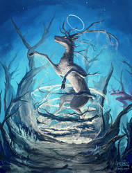 Birth of a Deer God by mcgmark