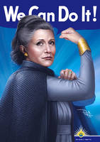 We Can Do It - General Leia Organa by daniel-morpheus