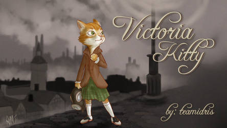Commission: Victoria Kitty title card by Amiki-Doodles