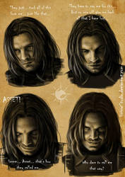 Bucky mimicry sketches2 / After Let it Burn... by UnicatStudio