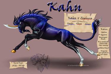 Kahn the Dark Unicorn by FlareAndIcicle
