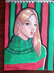 Christmas girl by Hikase555
