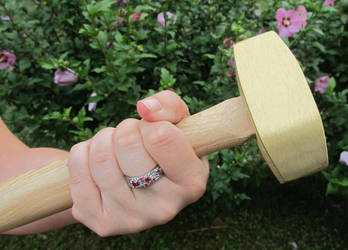 Women's Dwarf Ring and Hammer 2 by ce-e-vel