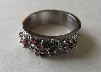 Women's Dwarf Ring with Fire Chalicite by ce-e-vel