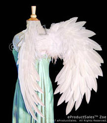 eps White ZOE angel Wings BACK by eProductSales