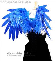 Royal Blue Lolita Angel Wings by eProductSales