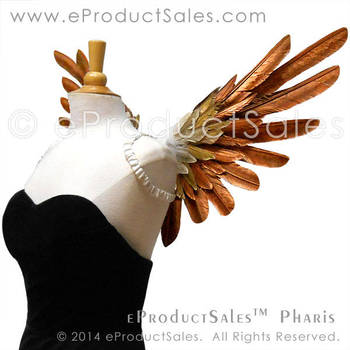 eProductSales Metallic Pharis Feather Wings by eProductSales