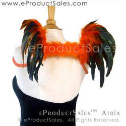 Black and Orange Halloween ATRIA Angel Wings Art by eProductSales