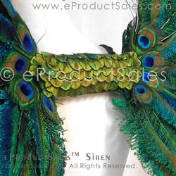 Siren Peacock Feather Detail Artisan Craft Art by eProductSales