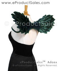 Dark Green Adora Feather Angel Wings by eProductSales