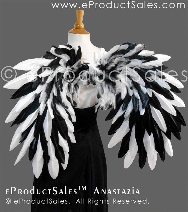 eProductSales Anastazia White and Black Mix Wings by eProductSales