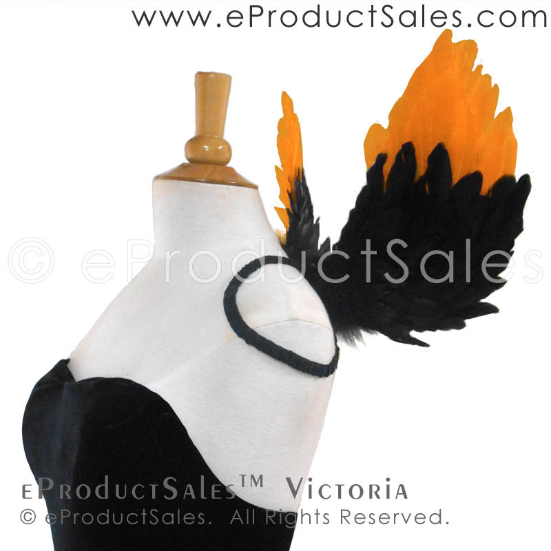 Victoria Black and Orange Halloween Wings by eProductSales