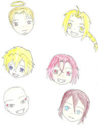 The many faces of Vic's characters by landra15