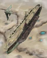 Arkilian Strategic Aircraft Carrier, Ecarlard by AoiWaffle0608