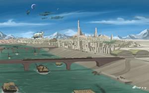 Capital of Arkilian Federation by AoiWaffle0608