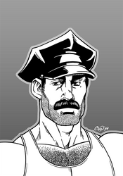 Leather Moustache by AllMaleArt
