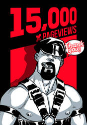 15K Pageviews! by AllMaleArt