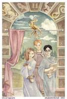 Trio At Hogwarts by pixelfish