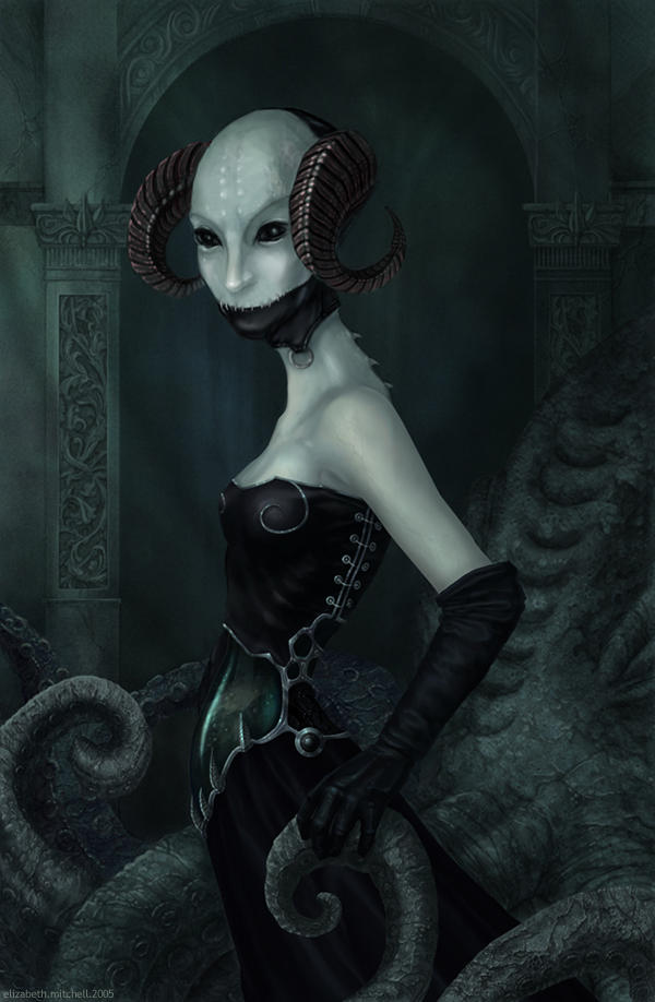 The Horned She by pixelfish
