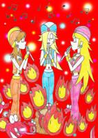 Super Mario Princesses as Snake Charmers by Nightwishrockz