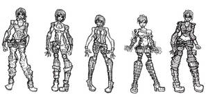 Female Character Designs by cattwister