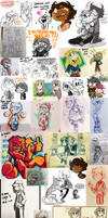 Castaway and Wings Doodle Dump 2017-18 by NoasDraws