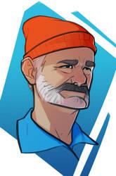 Bill Murray, The Life Aquatic by TheKrustacean