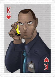 Bank Heist Playing Cards (Bank officer) by shehan103