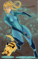 SSBB: zero suit + pikachu by marchie