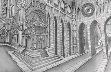 Gothic Castle by ArtistAesthetics