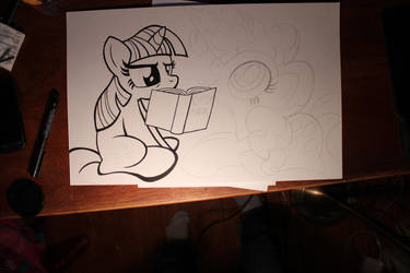 Pinkie Pie and Twilight Sparkle WIP 2 by artwork-tee