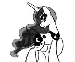 Sketch: Her Majesty Best Pony Princess Luna by artwork-tee