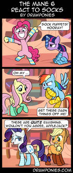 Comic: Mane 6 React To Socks (With Dialogue) by artwork-tee