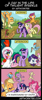 A Day In The Life Of Twilight Sparkle by artwork-tee