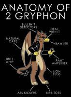 Anatomy of 2 Gryphon by artwork-tee